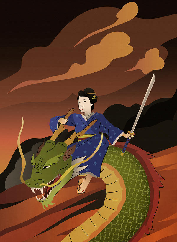 Dragon warrior by super-badass