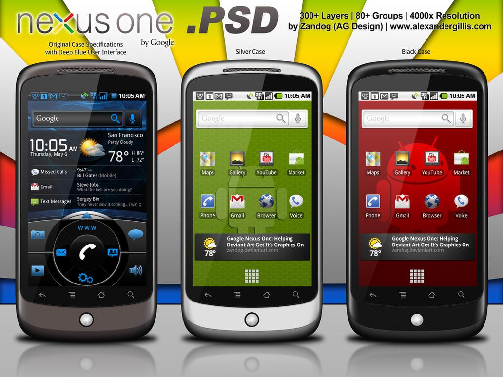 Google Nexus One Redux .PSD by zandog
