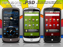 Google Nexus One Redux .PSD by zandog