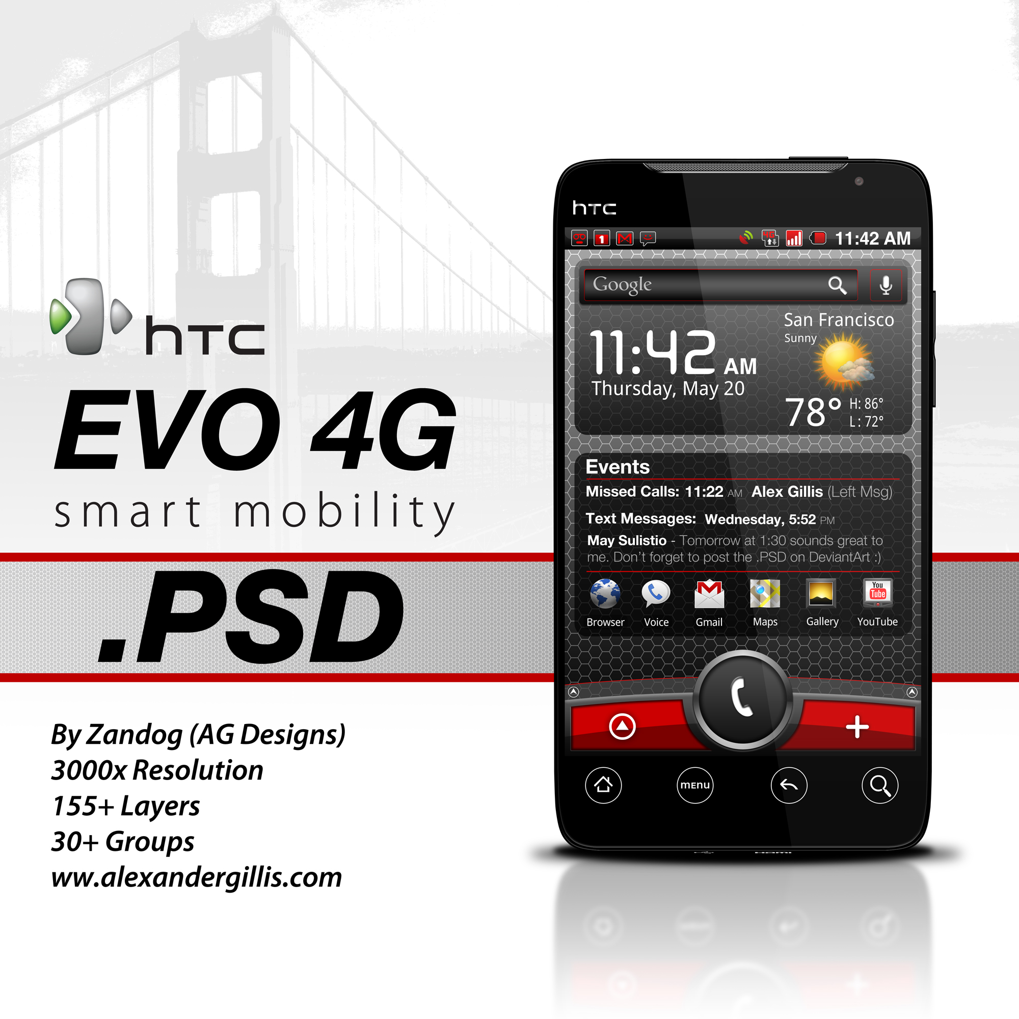 HTC EVO 4G .PSD by zandog