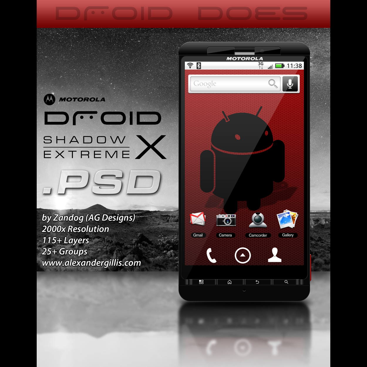 Motorola Droid X .PSD