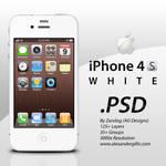 Apple iPhone 4S White .PSD