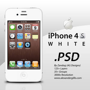Apple iPhone 4S White .PSD