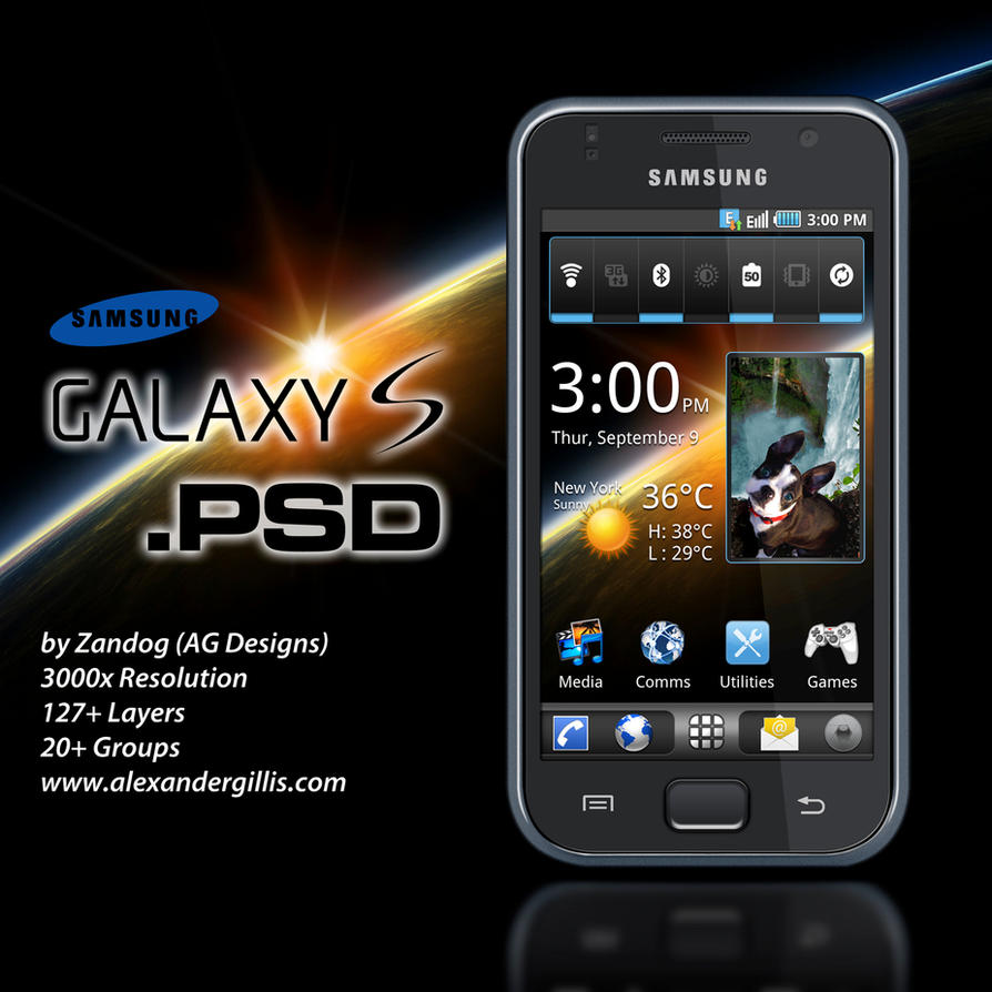 samsung i9000 galaxy s psd by zandog on deviantart. Black Bedroom Furniture Sets. Home Design Ideas