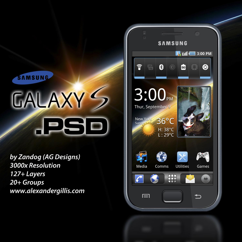 Samsung i9000 Galaxy S .PSD