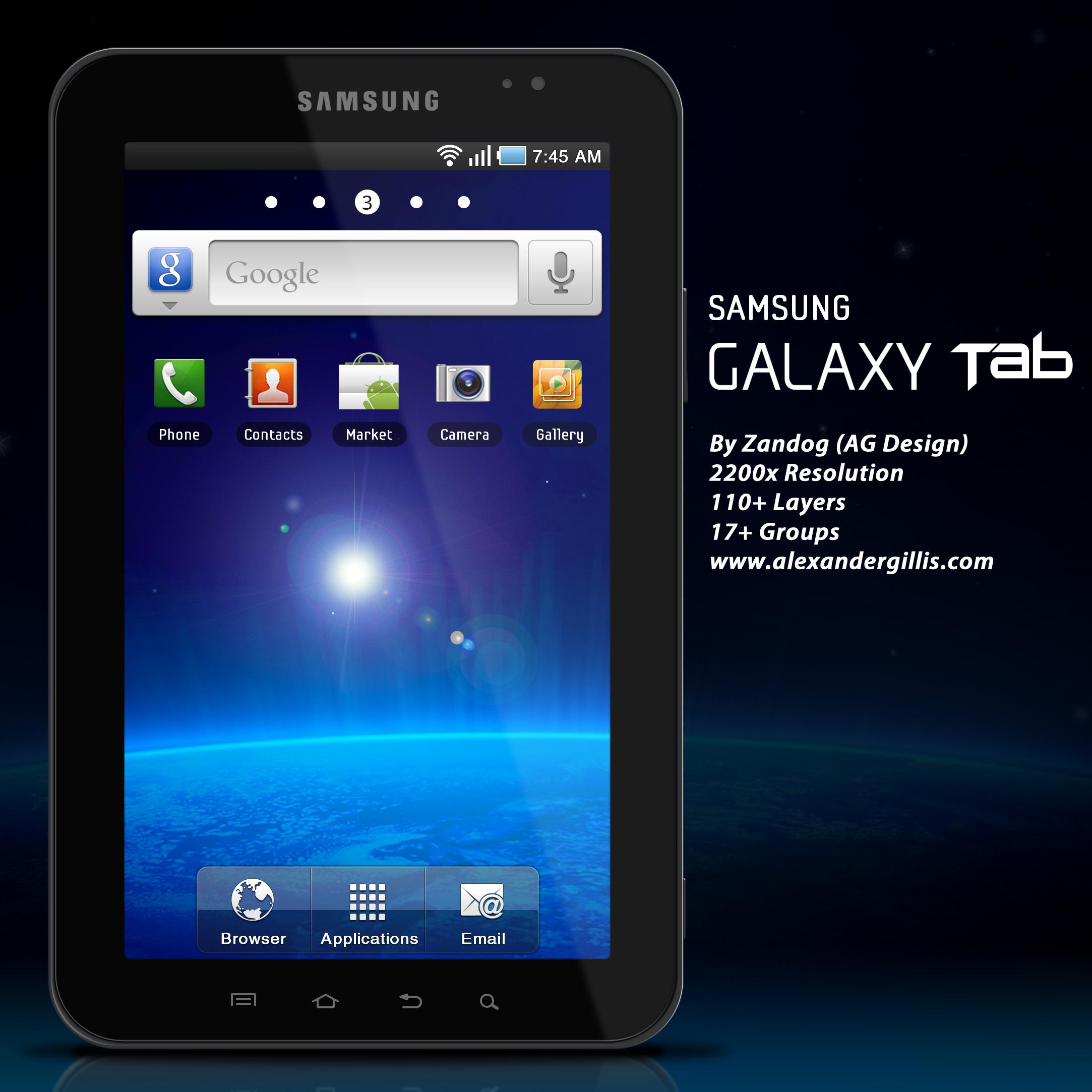 Samsung Galaxy Tab P1000 .PSD by zandog