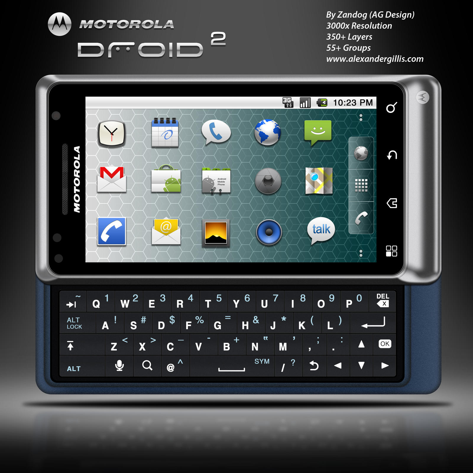 Motorola Droid 2  PSD by zandog on DeviantArt