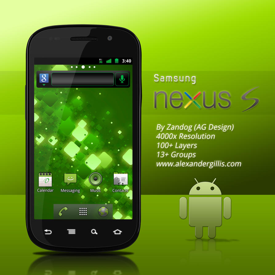 Samsung Nexus S .PSD by zandog on DeviantArt
