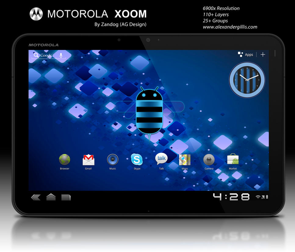motorola xoom tablet psd by zandog on deviantart. Black Bedroom Furniture Sets. Home Design Ideas