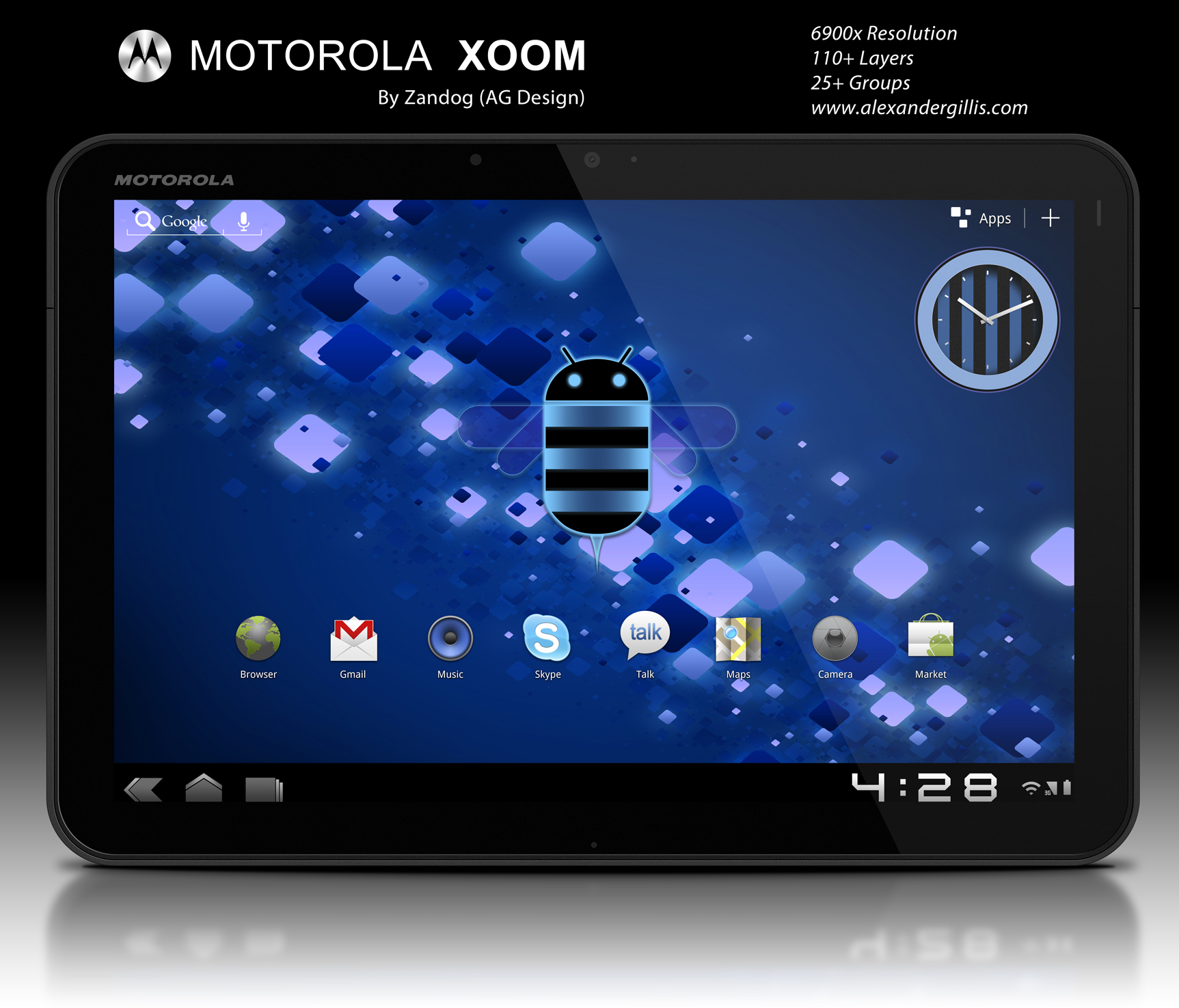 Motorola Xoom Tablet .PSD by zandog