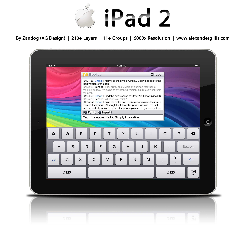 Apple iPad 2 .PSD by zandog