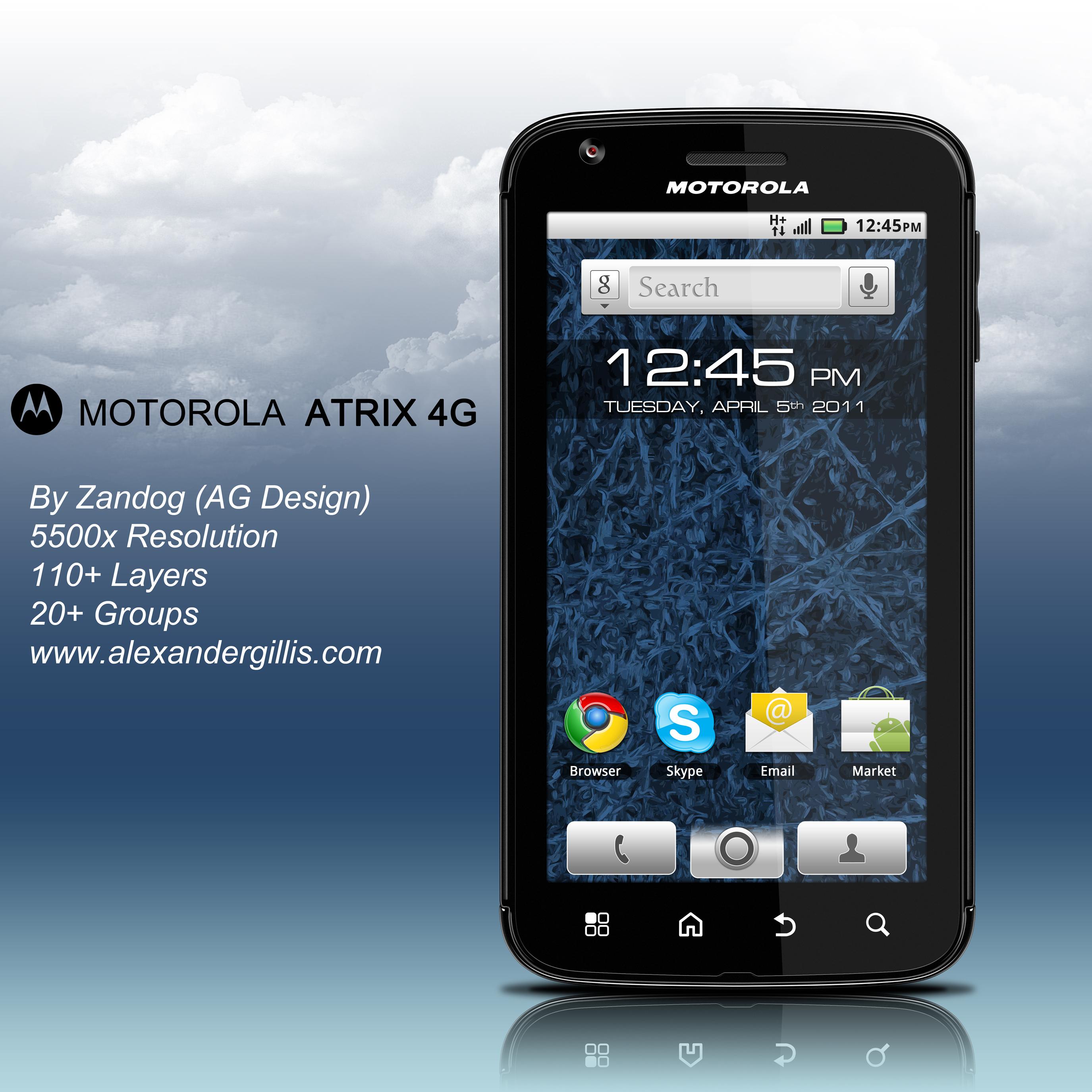 Motorola Atrix 4G .PSD