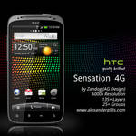HTC Sensation 4G .PSD
