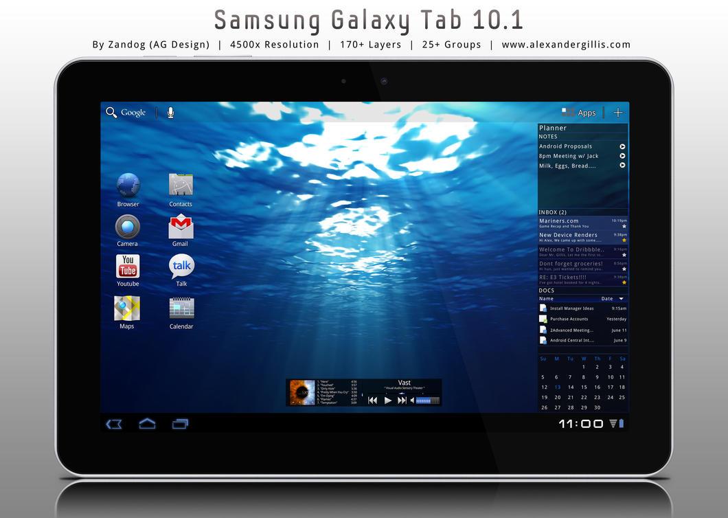 samsung galaxy tab 10 1 psd by zandog on deviantart