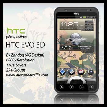 HTC EVO 3D .PSD