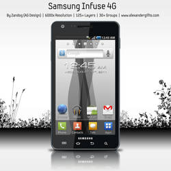 Samsung Infuse 4G .PSD
