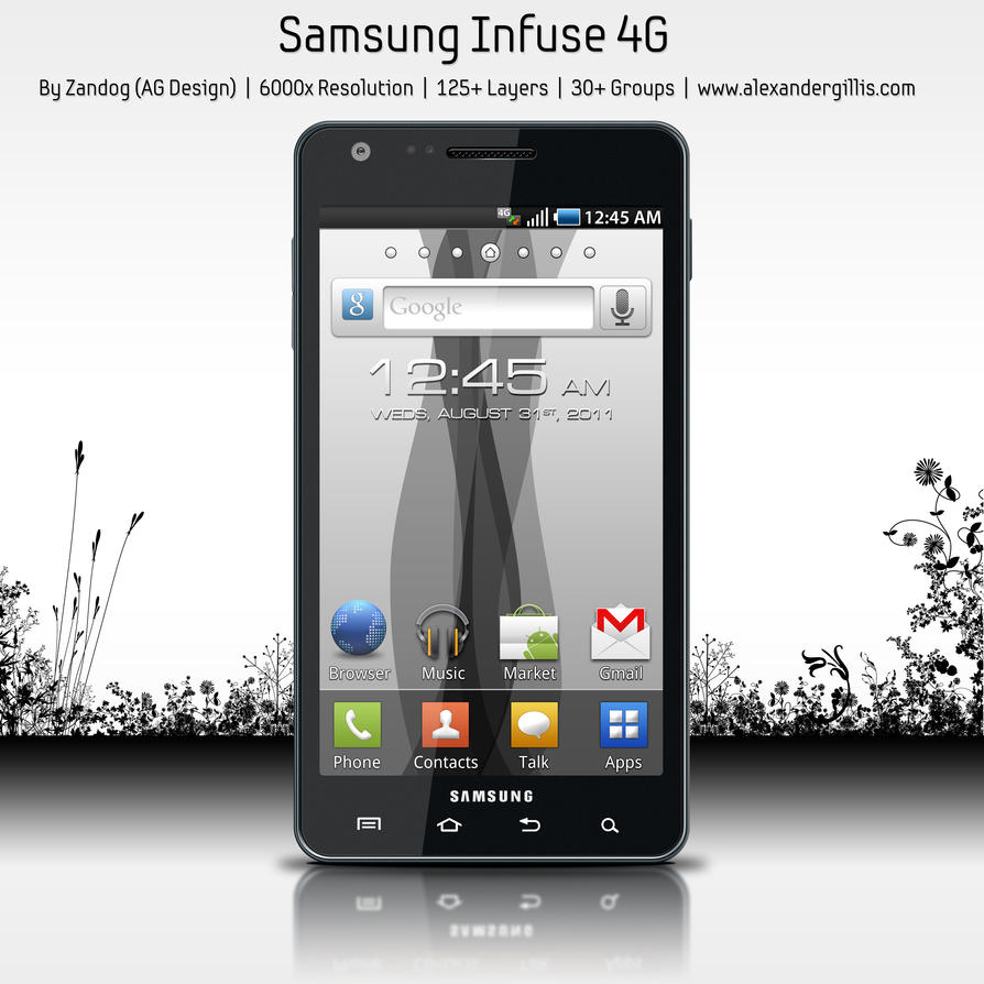 Samsung Infuse 4G .PSD by zandog