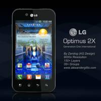LG Optimus Black .PSD