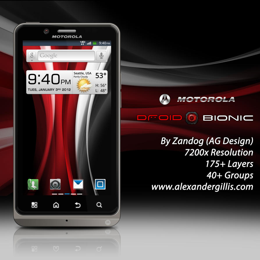 Motorola Droid Bionic Final .PSD by zandog