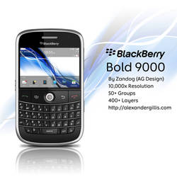 RIM BlackBerry Bold 9000 .PSD