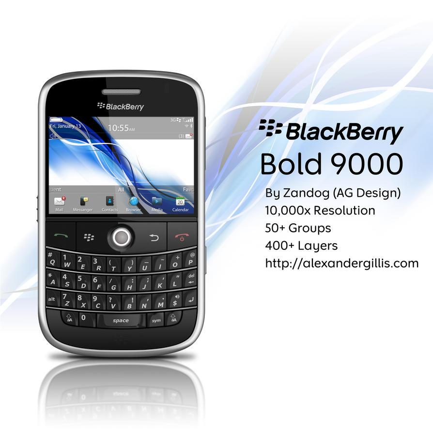 RIM BlackBerry Bold 9000 .PSD by zandog