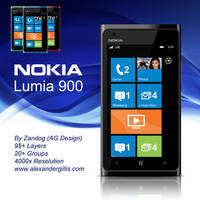 Nokia Lumia 900 .PSD