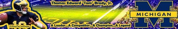 Tom Brady Michigan Sig