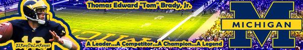 Tom Brady Michigan Sig