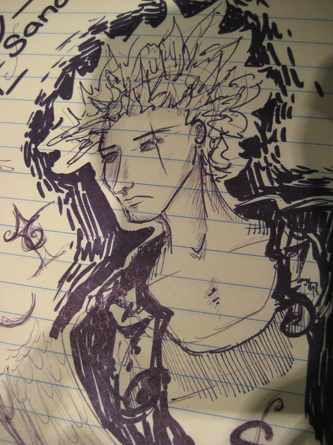 Morpheus on my steno pad by deliriouslycalm