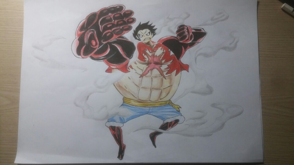 I Just Draw One Piece Luffy Gear 4 By Qja5977 On Deviantart