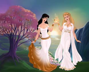 Queen Hippolyta and Princess Diana. by Katharine-Elizabeth