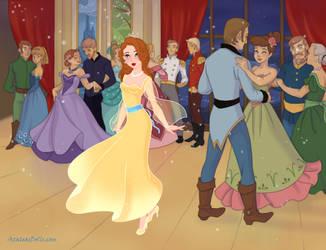 Figures Dancing Gracefully. by Katharine-Elizabeth