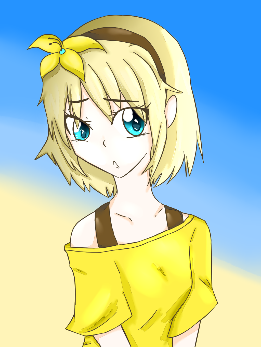 Rin Kagamine by Angelbreeze1
