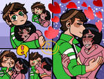 Ben 10 x Julie! Shy comic