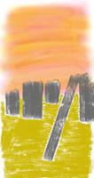Twilight Over Desert Ruins