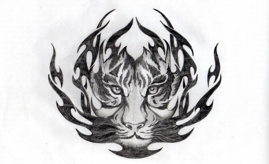 tribal tiger by herz verfolger on deviantart. Black Bedroom Furniture Sets. Home Design Ideas