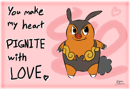 Unova Valentine - Pignite