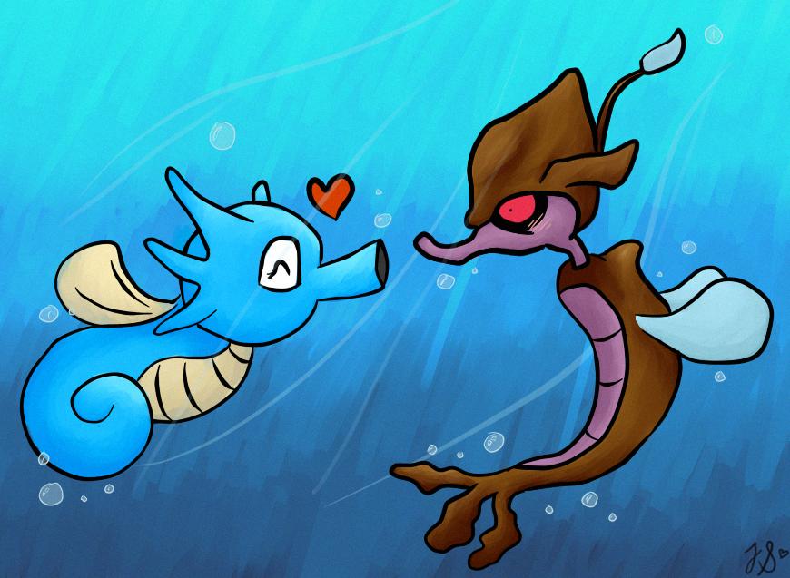PKMN - Seahorse Love by MissBezz