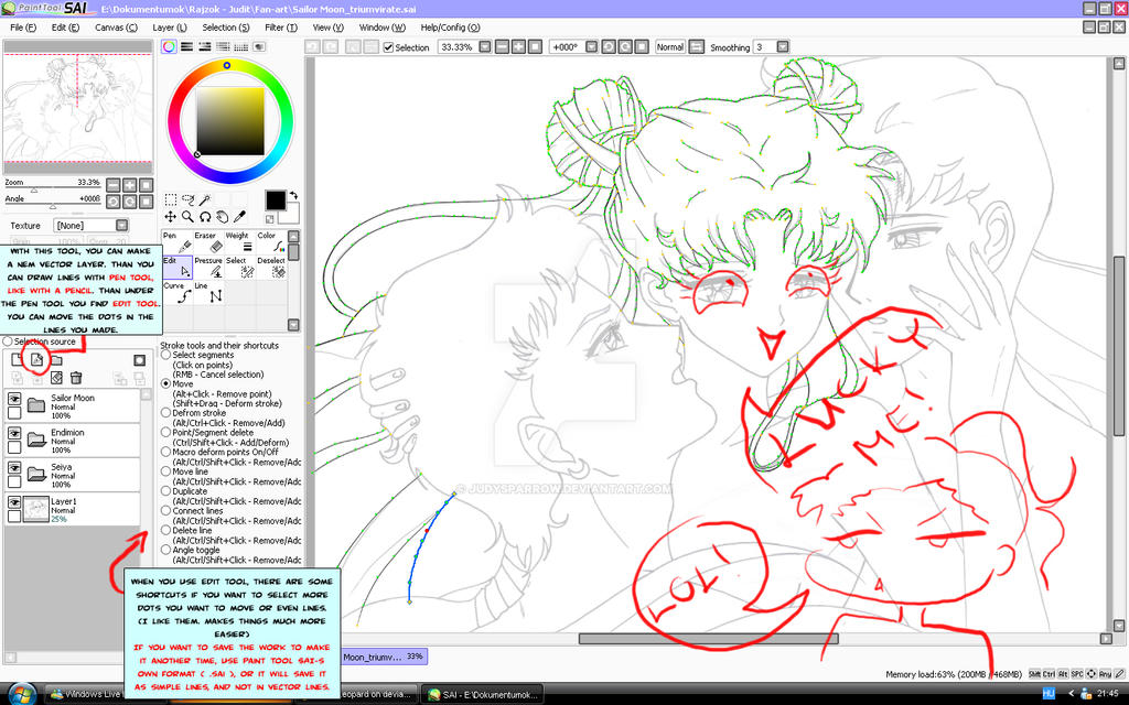 Sai Lineart : Paint tool sai lineart making by judysparrow on deviantart