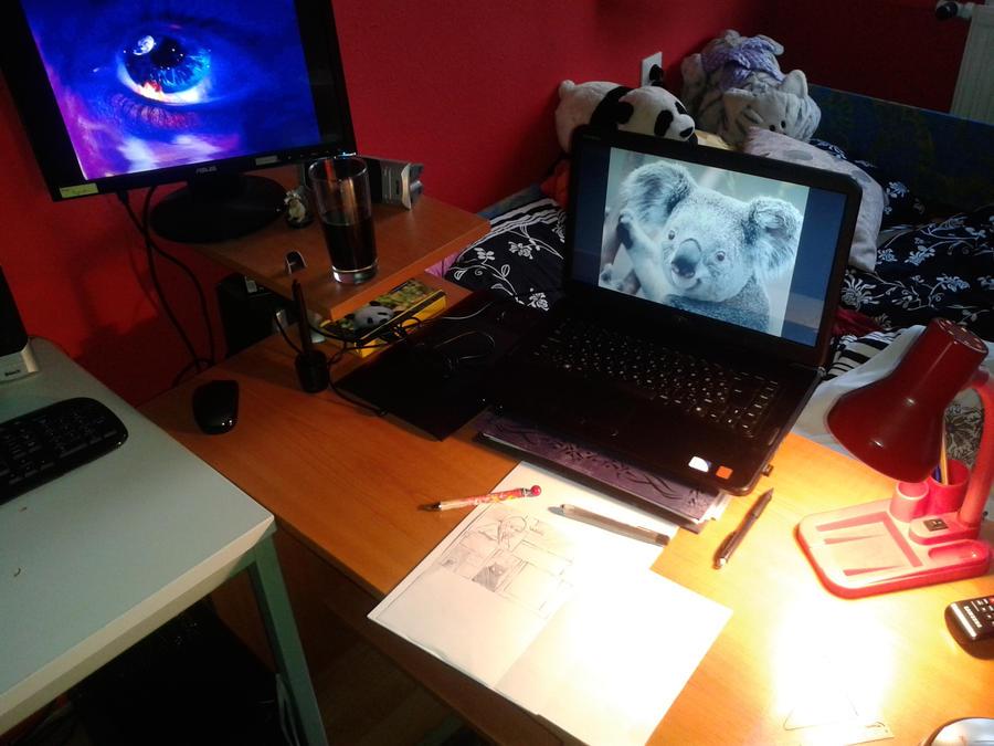 Da workplace by WereLeopard