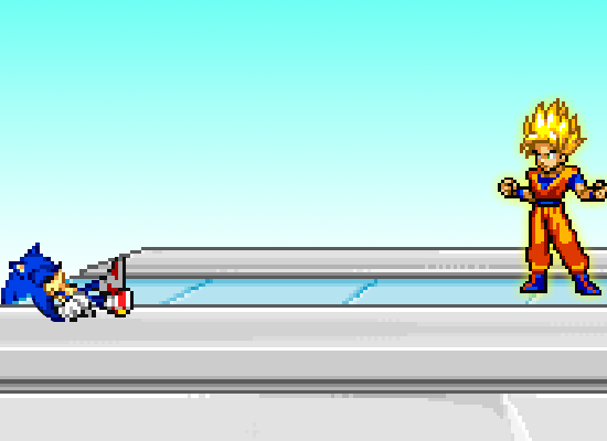 Super smash flash 2 ssj goku vs sonic by cindymaster66 on deviantart
