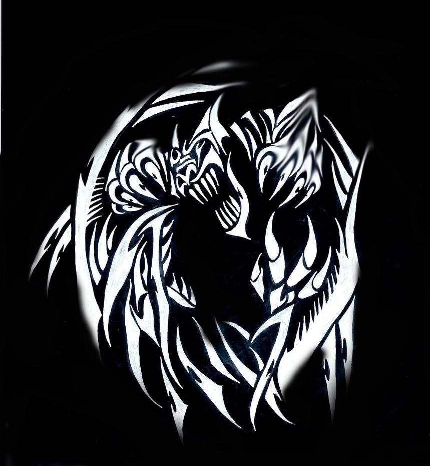 Dragon And Wolf Tattoo Designs