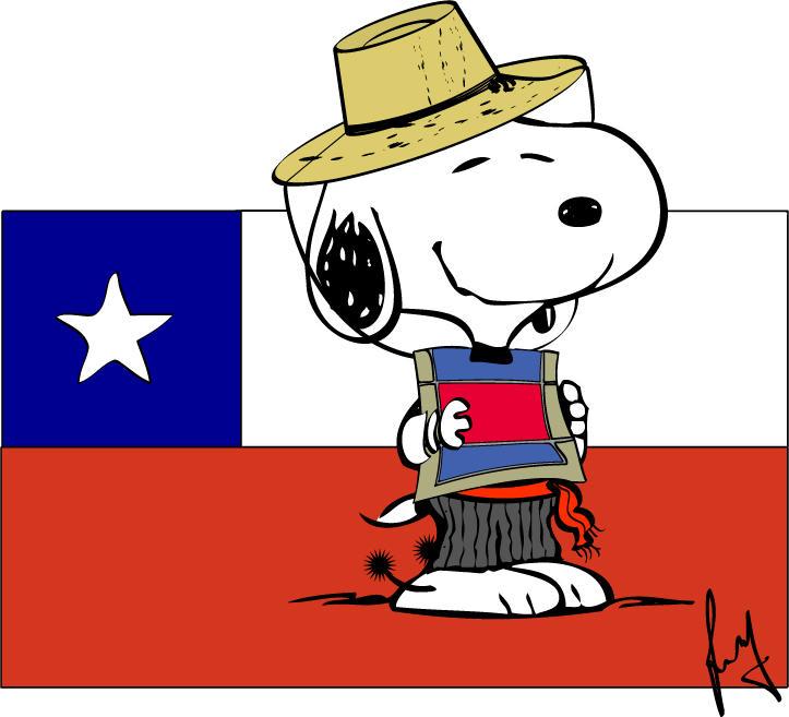 Snoopy huaso by amniosdesign on deviantart for Diario mural fiestas patrias chile