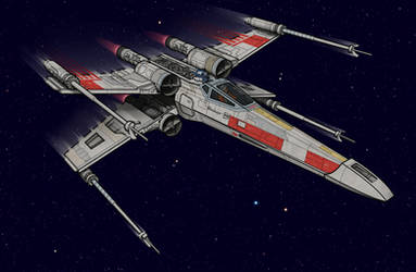 Classic X-Wing by BenjaminSapiens