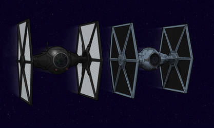 TIE Fighers: Old and New by BenjaminSapiens