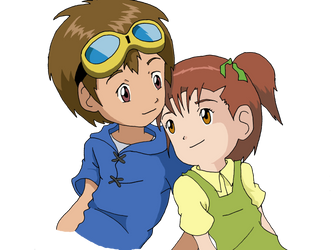 Jeri and Takato Backgroundless by gar2d2