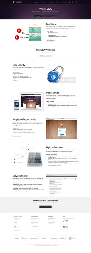Windu CMS - showcase 2