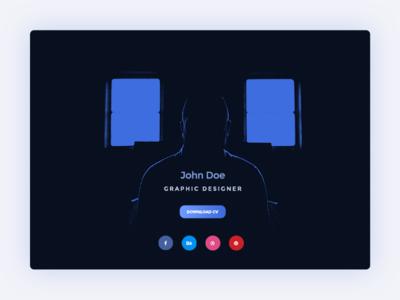 Dailyui16 Designer-profile 1x by jcd-pl