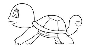 Squirtle Lineart by MisterGuy11