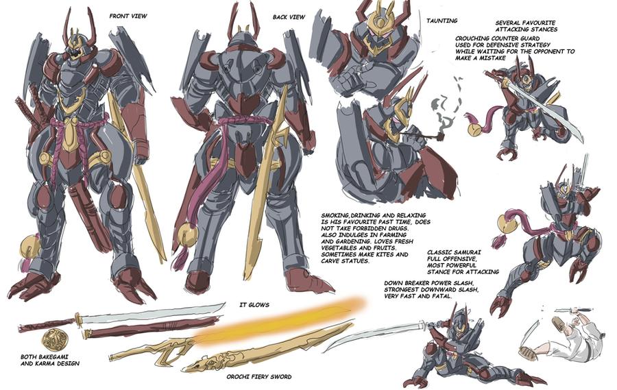 Samurai 7 Anime Characters : Iron samurai character sheet by frost on deviantart